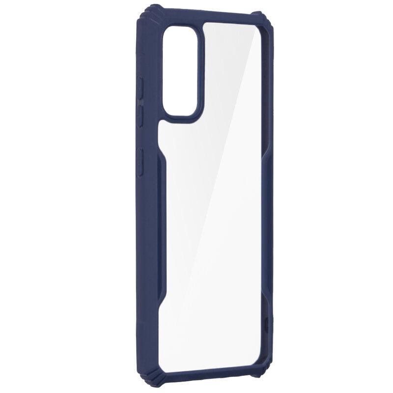 Husa Samsung Galaxy S20 5G Blade Acrylic Transparenta - Albastru