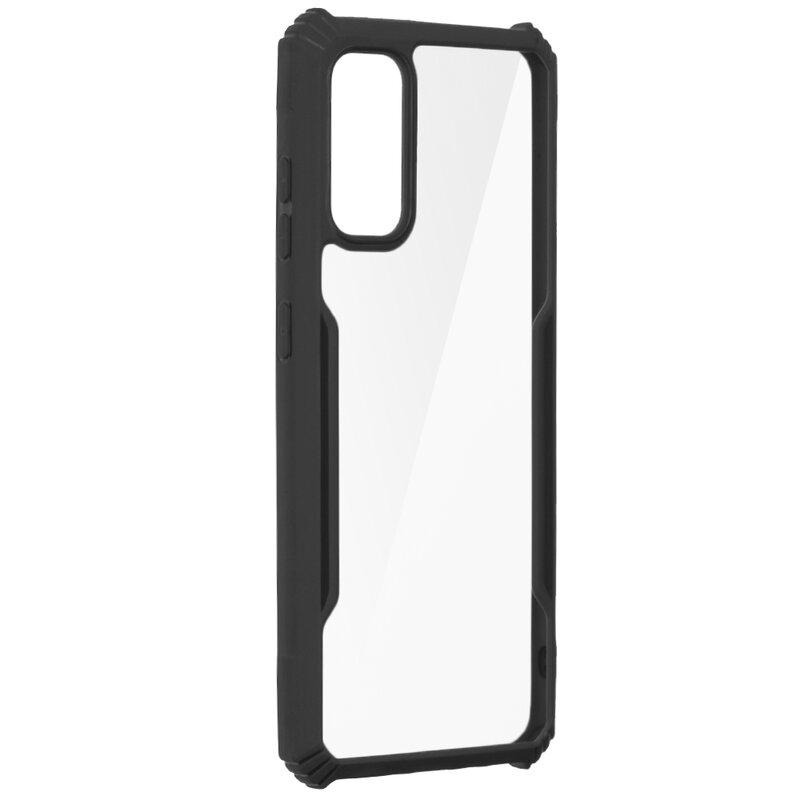 Husa Samsung Galaxy S20 5G Blade Acrylic Transparenta - Negru
