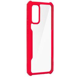 Husa Samsung Galaxy S20 5G Blade Acrylic Transparenta - Rosu