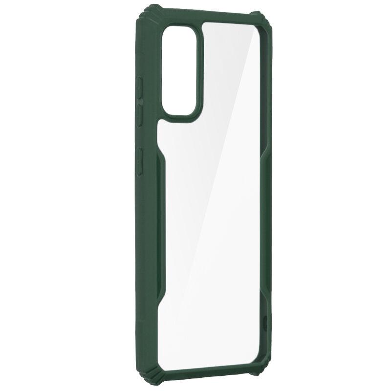 Husa Samsung Galaxy S20 5G Blade Acrylic Transparenta - Verde