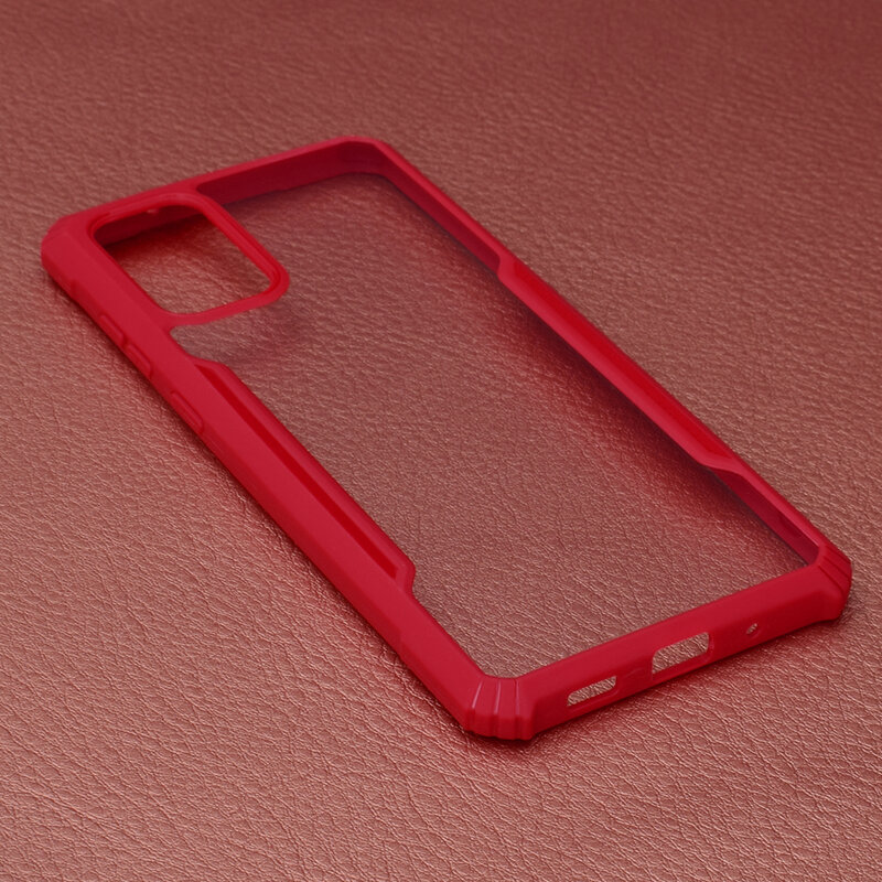 Husa Samsung Galaxy S20 Plus Blade Acrylic Transparenta - Rosu