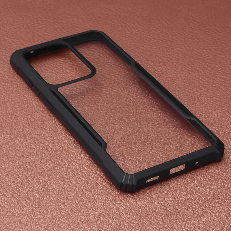 Husa Samsung Galaxy S20 Ultra 5G Blade Acrylic Transparenta - Negru