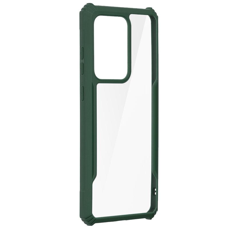 Husa Samsung Galaxy S20 Ultra 5G Blade Acrylic Transparenta - Verde