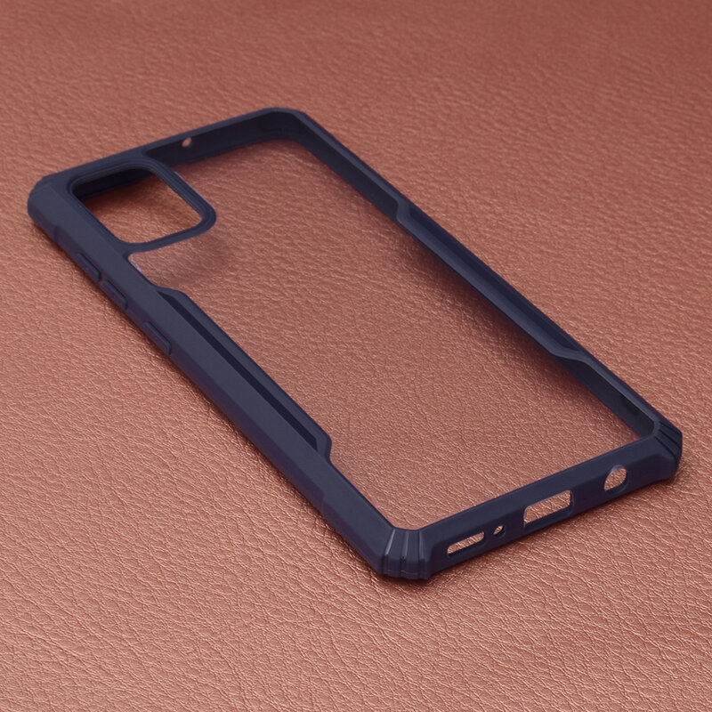 Husa Samsung Galaxy A51 Blade Acrylic Transparenta - Albastru