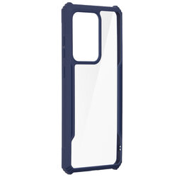Husa Samsung Galaxy S20 Ultra 5G Blade Acrylic Transparenta - Albastru