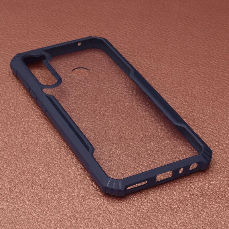 Husa Xiaomi Redmi Note 8T Blade Acrylic Transparenta - Albastru