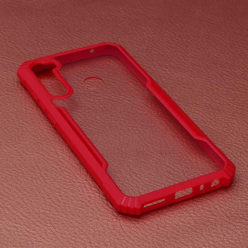 Husa Xiaomi Redmi Note 8T Blade Acrylic Transparenta - Rosu