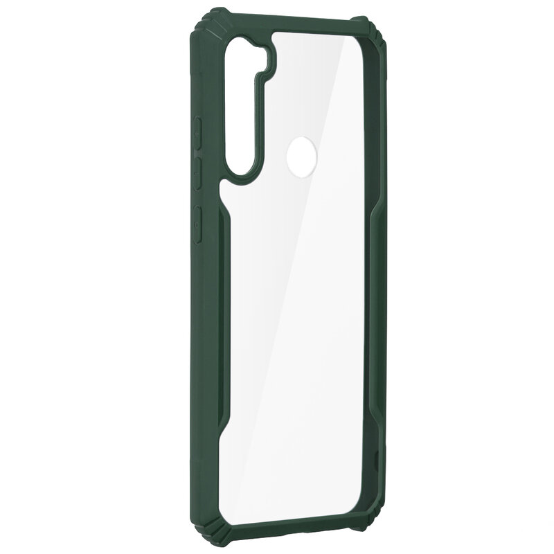 Husa Xiaomi Redmi Note 8T Blade Acrylic Transparenta - Verde