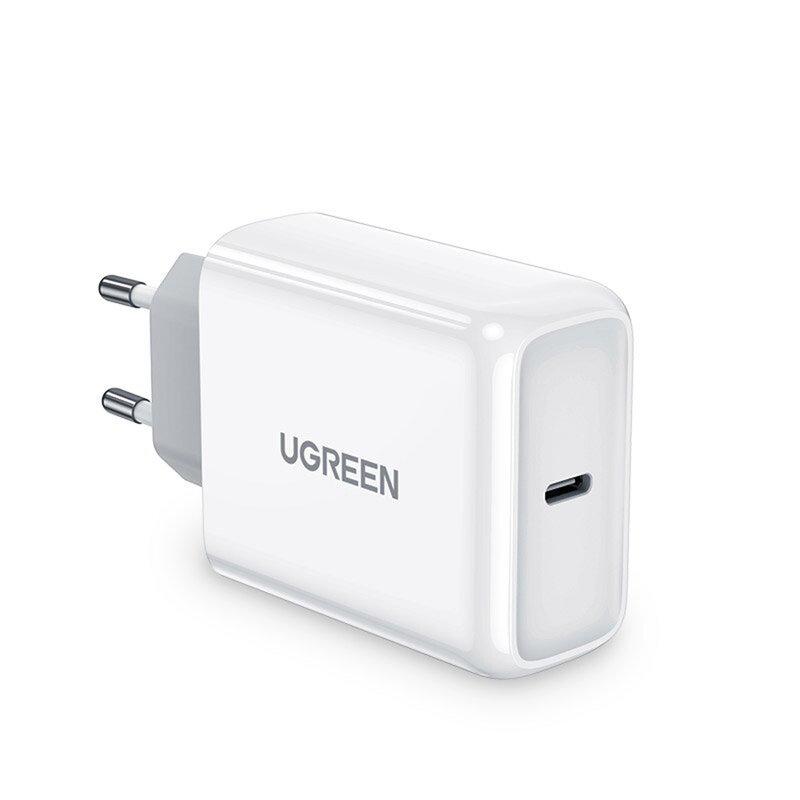 Incarcator priza Ugreen, Type-C PD, incarcare rapida, 45W, 3A, alb, 60464