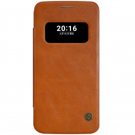 Husa LG G5  Flip Nillkin S-View QIN Maro