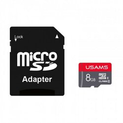 Card De Memorie Micro SDHC Clasa 10 + Adaptor USAMS 8GB - US-ZB116