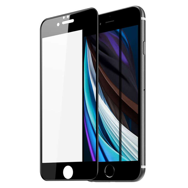 Folie Sticla iPhone SE 2, SE 2020 Dux Ducis Tempered Glass - Negru