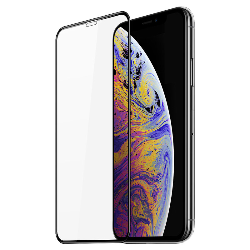 Folie Sticla iPhone XS Max Dux Ducis Tempered Glass - Negru