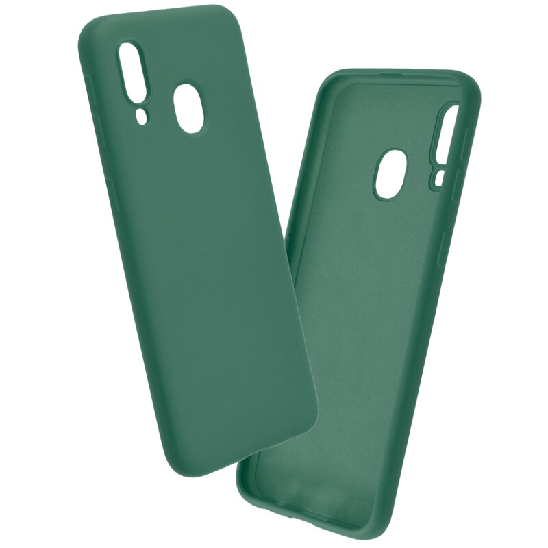 Husa Samsung Galaxy A40 Mobster SoftTouch Lite - Verde Inchis