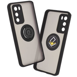 Husa Huawei P40 Mobster Glinth Cu Inel Suport Stand Magnetic - Negru