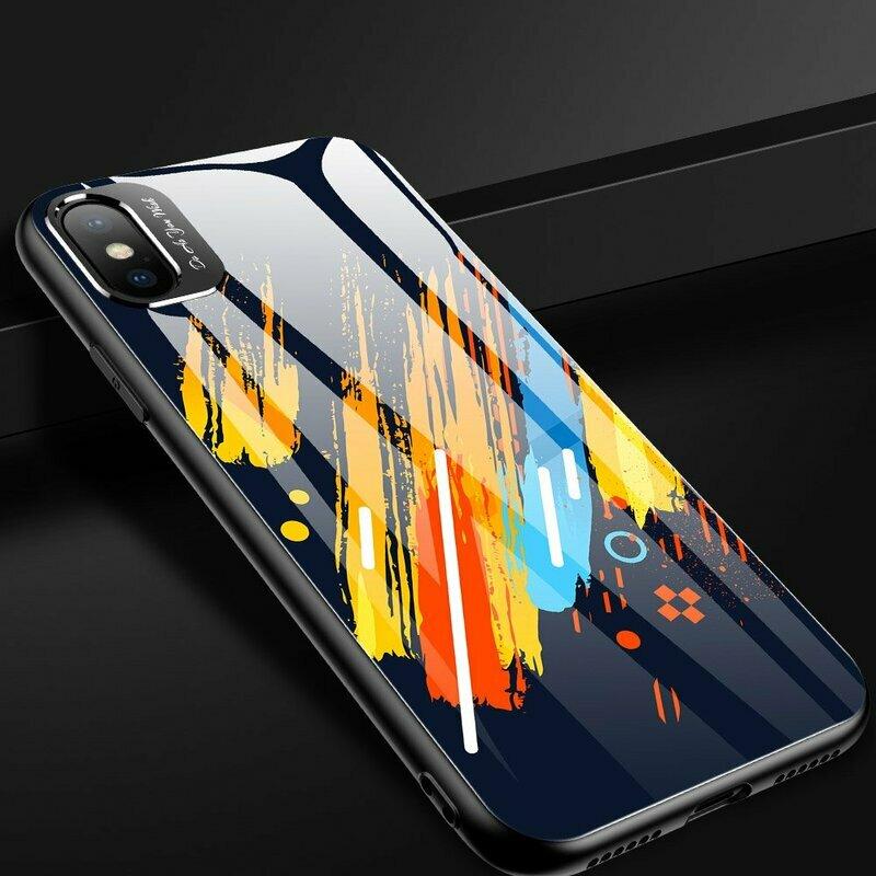 Husa iPhone XS Max Multicolora Din Sticla Securizata - Model 5