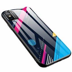Husa iPhone XS Max Multicolora Din Sticla Securizata - Model 4