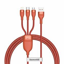 Cablu De Date 3in1 Lightning, Micro-USB, Type-C 1.2m 5A 40W Baseus - CA1T3-07 - Oranj