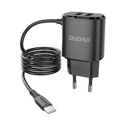Incarcator Priza 2x USB Cu Cablu Type-C Dudao A2 Pro 2.4A 5V - Negru