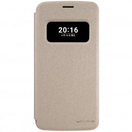 Husa LG G5 NILLKIN Sparkle S-View Flip Gold
