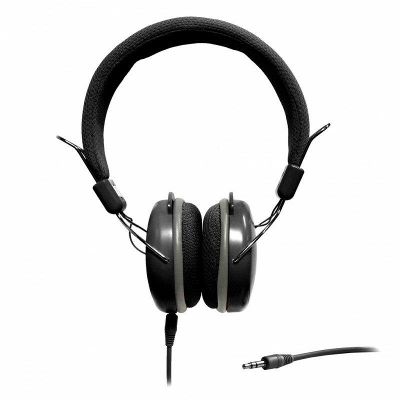 Casti on-ear cu microfon ART, cablu Jack 1.2m, negru, AP-60MD