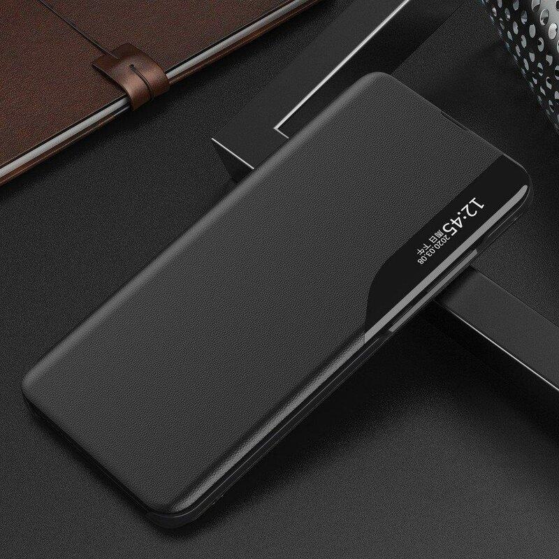 Husa Samsung Galaxy S20 5G Eco Leather View Flip Tip Carte - Negru