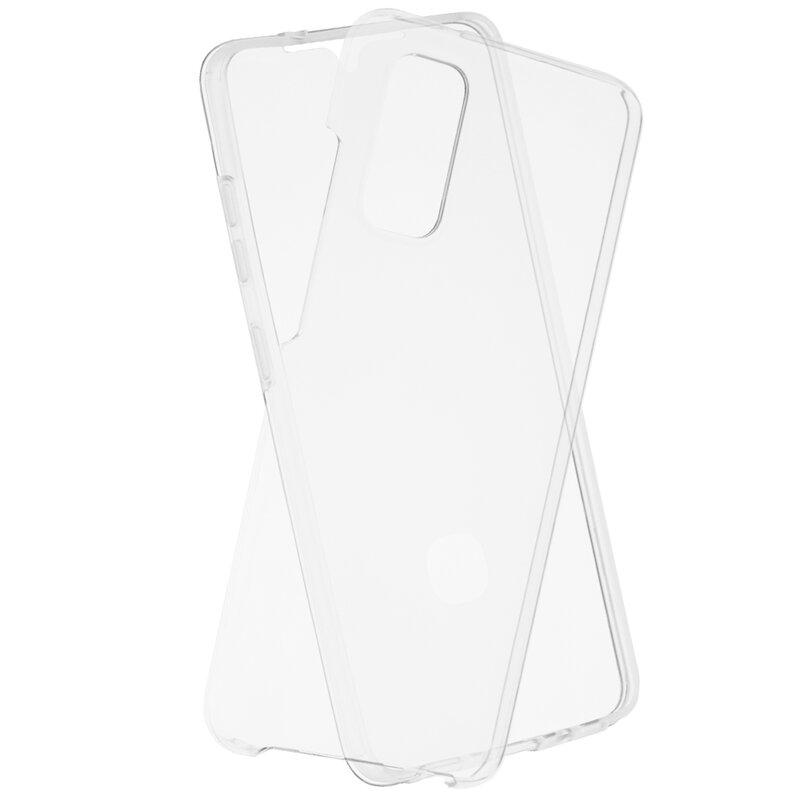 Husa Samsung Galaxy S20 5G FullCover 360 Cu Senzor De Amprenta - Transparent