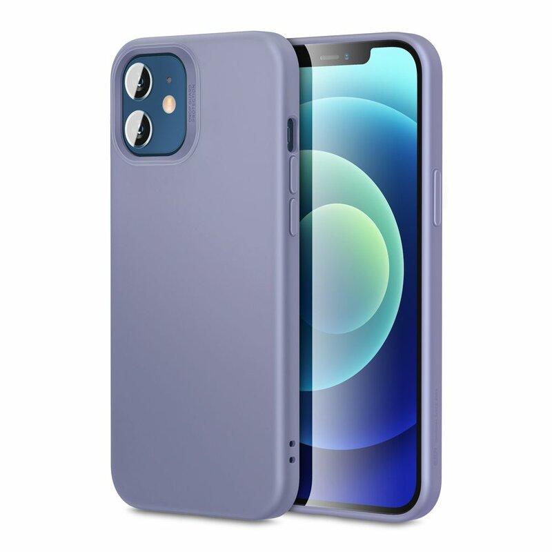 Husa iPhone 12 ESR Cloud Flexibila Din Silicon Si Microfibra - Mov