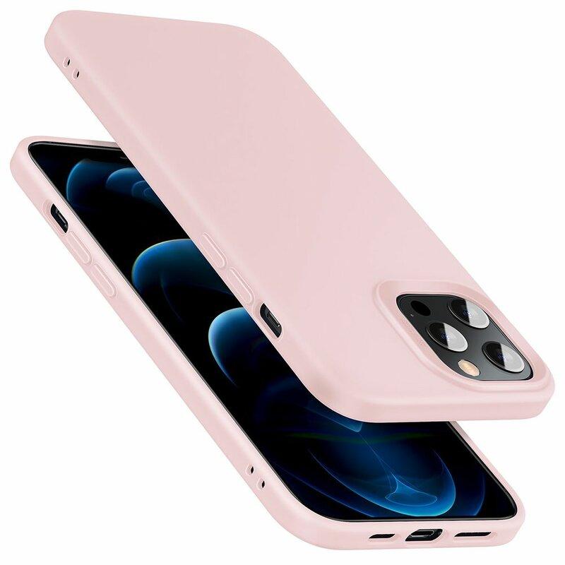 Husa iPhone 12 Pro ESR Cloud Flexibila Din Silicon Si Microfibra - Roz