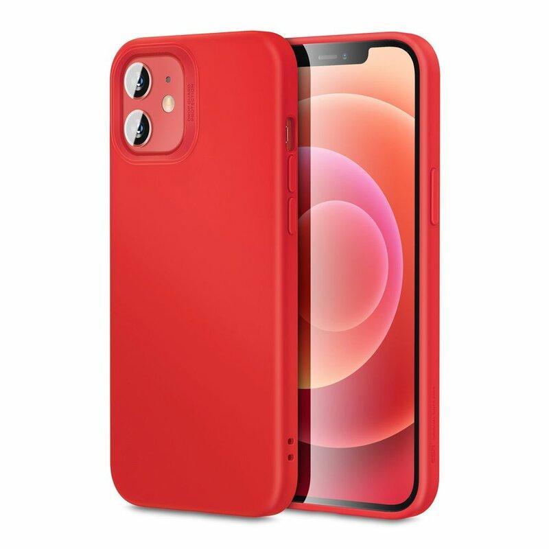 Husa iPhone 12 mini ESR Cloud Flexibila Din Silicon Si Microfibra - Rosu