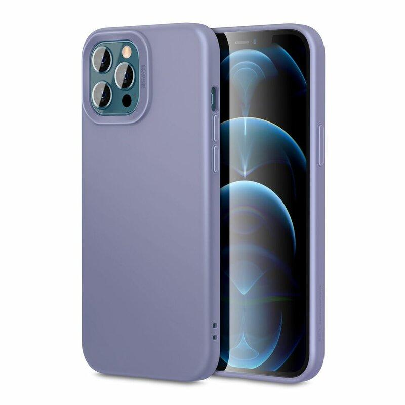 Husa iPhone 12 Pro ESR Cloud Flexibila Din Silicon Si Microfibra - Mov