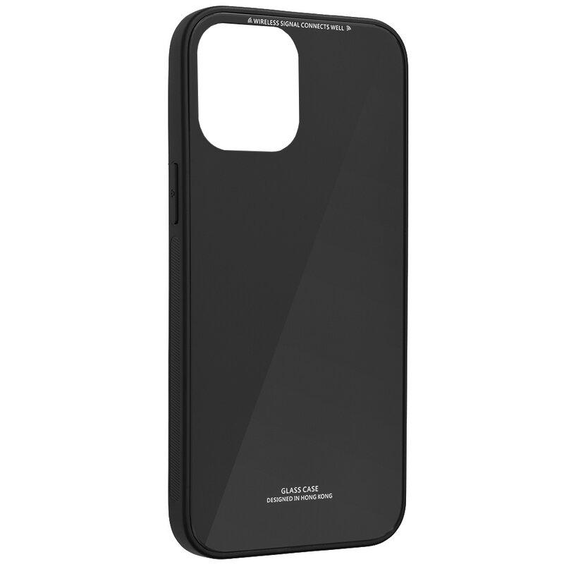 Husa iPhone 12 mini Glass Series - Negru
