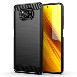 Husa Xiaomi Poco X3 NFC TPU Carbon - Negru