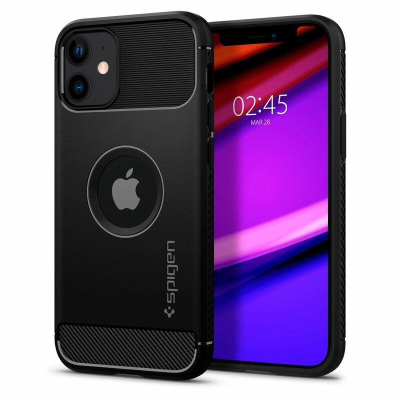 Husa iPhone 12 Spigen Rugged Armor - Matte Black