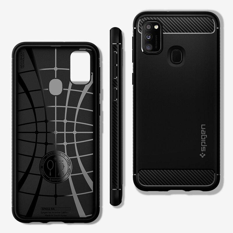 Husa Samsung Galaxy M21 Spigen Rugged Armor - Matte Black