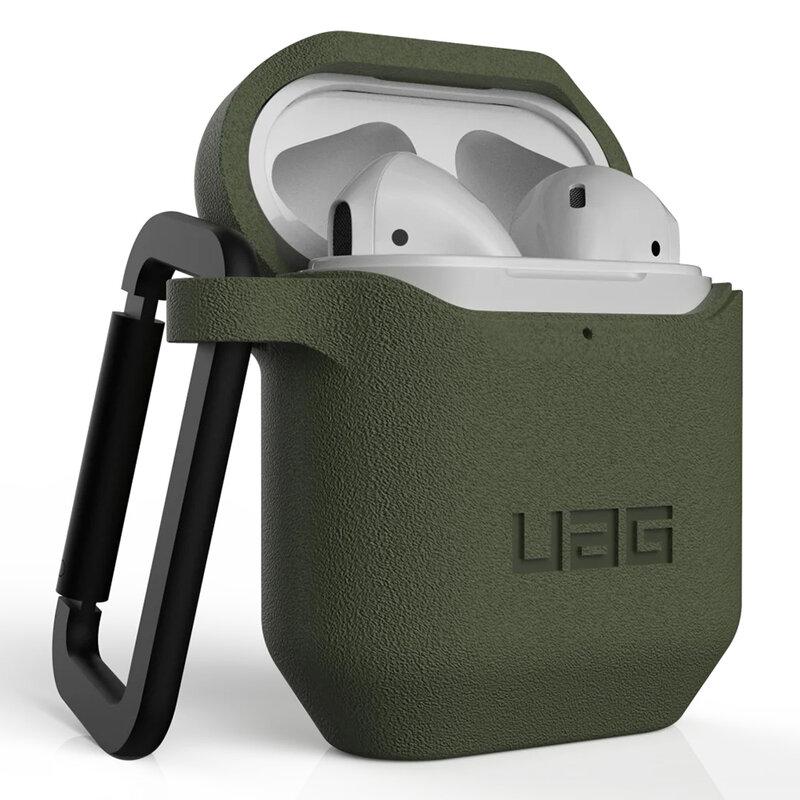 Husa Apple Airpods UAG Standard Issue Cu Holder Metalic Detasabil - Verde