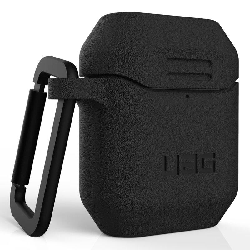 Husa Apple Airpods UAG Standard Issue Cu Holder Metalic Detasabil - Negru