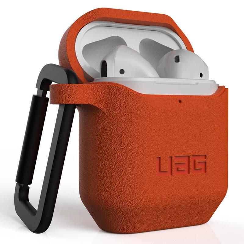 Husa Apple Airpods UAG Standard Issue Cu Holder Metalic Detasabil - Portocaliu
