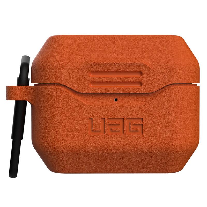 Husa Apple Airpods Pro UAG Standard Issue Cu Holder Metalic Detasabil - Portocaliu