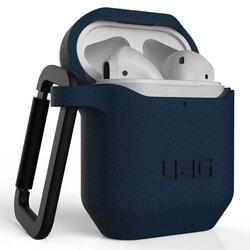 Husa Apple Airpods UAG Standard Issue Cu Holder Metalic Detasabil - Albastru