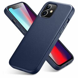 Husa iPhone 12 mini ESR Metro Leather - Albastru