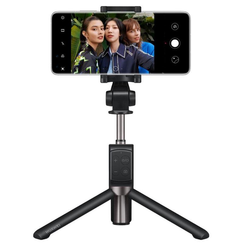 Suport Selfie Stick Huawei Original, Tripod Cu Telecomanda - CF15-Pro - Negru