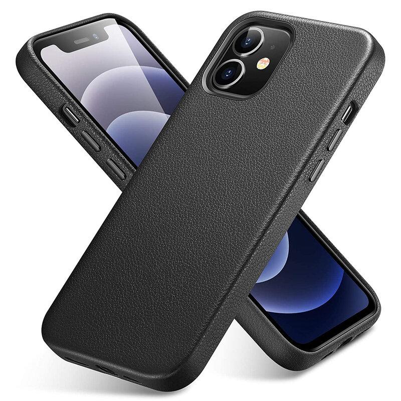 Husa iPhone 12 mini ESR Metro Leather - Negru