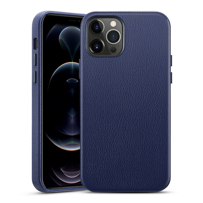 Husa iPhone 12 Pro Max ESR Metro Leather - Albastru