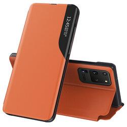 Husa Samsung Galaxy S20 Ultra Eco Leather View Flip Tip Carte - Portocaliu
