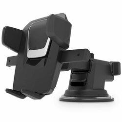 Suport Auto Telefon Tech Protect Dash, Telescopic, Prindere Parbriz, Bord - Negru