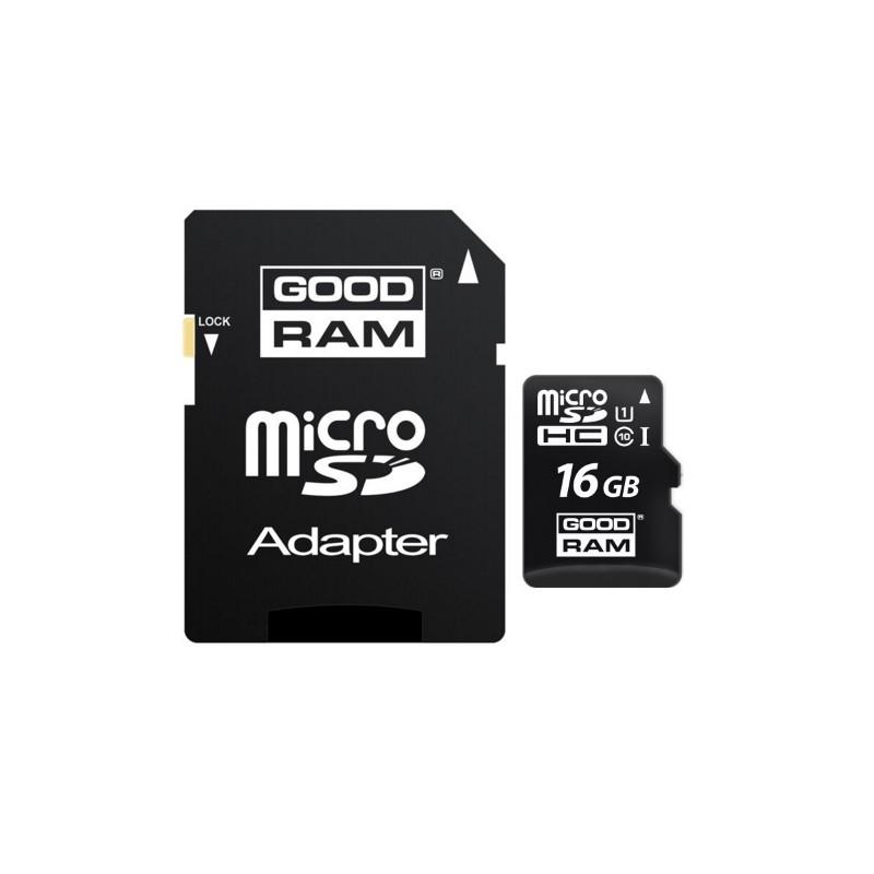 Card de memorie GOODRAM Micro SDHC M1A0/M1AA 16 GB UHS-I + Adaptor SD