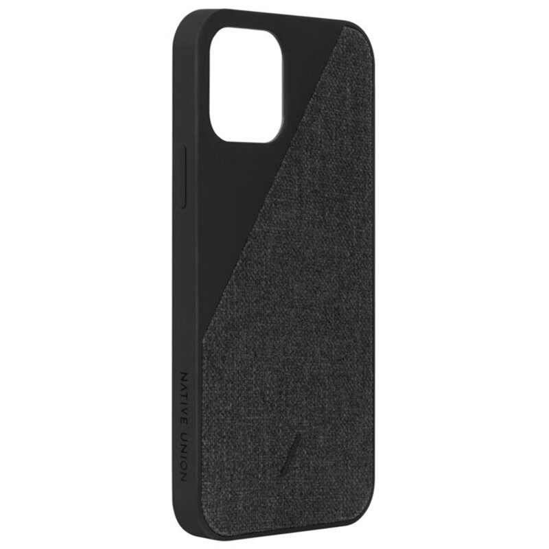 Husa iPhone 12 Native Union Clic Canvas Din Material Textil - Negru