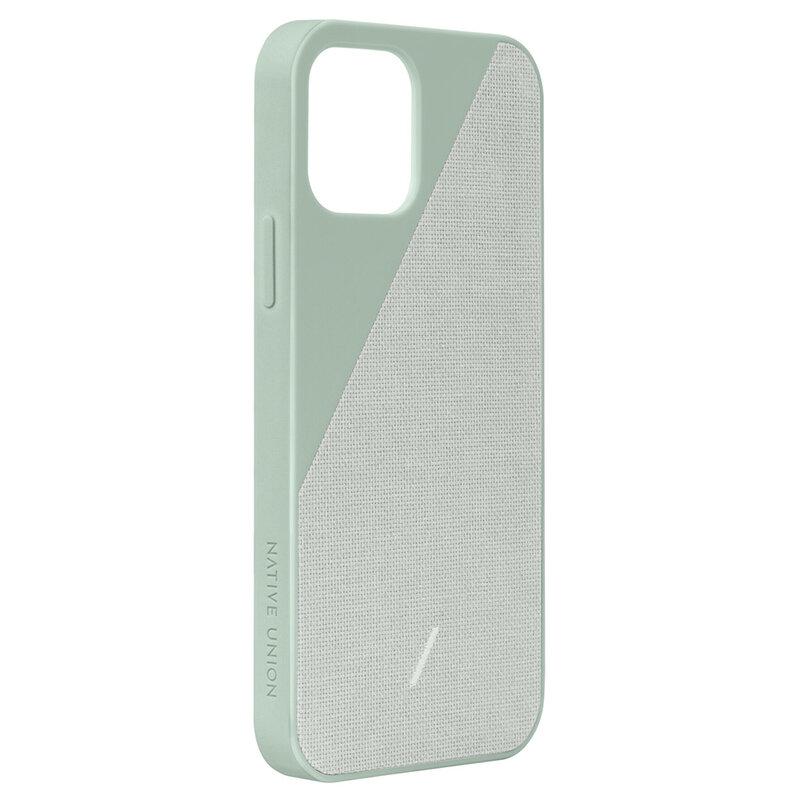 Husa iPhone 12 Native Union Clic Canvas Din Material Textil - Verde