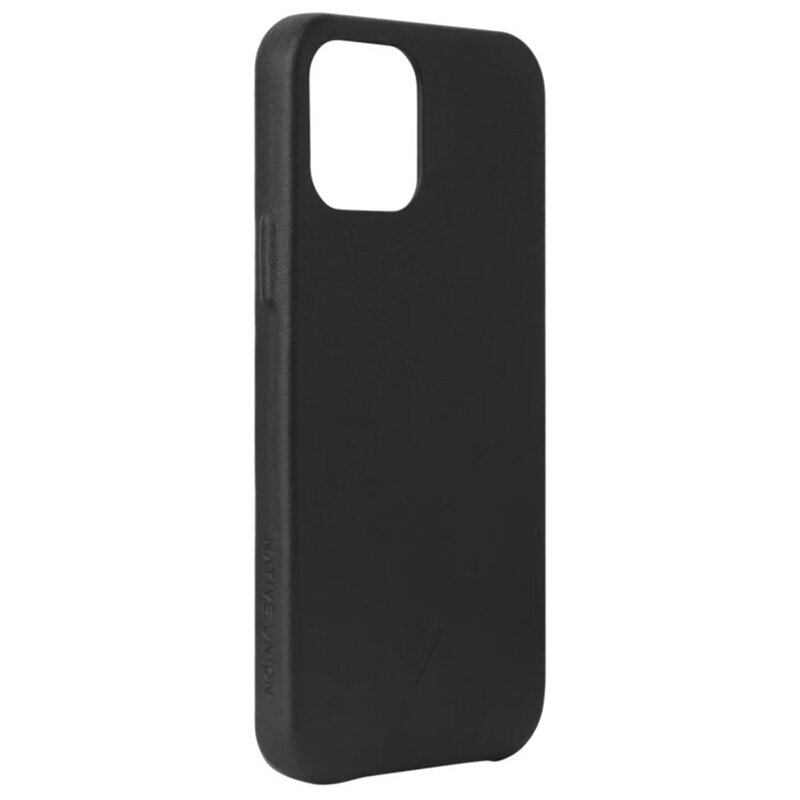 Husa iPhone 12 Native Union Clic Classic Din Piele Naturala - Negru